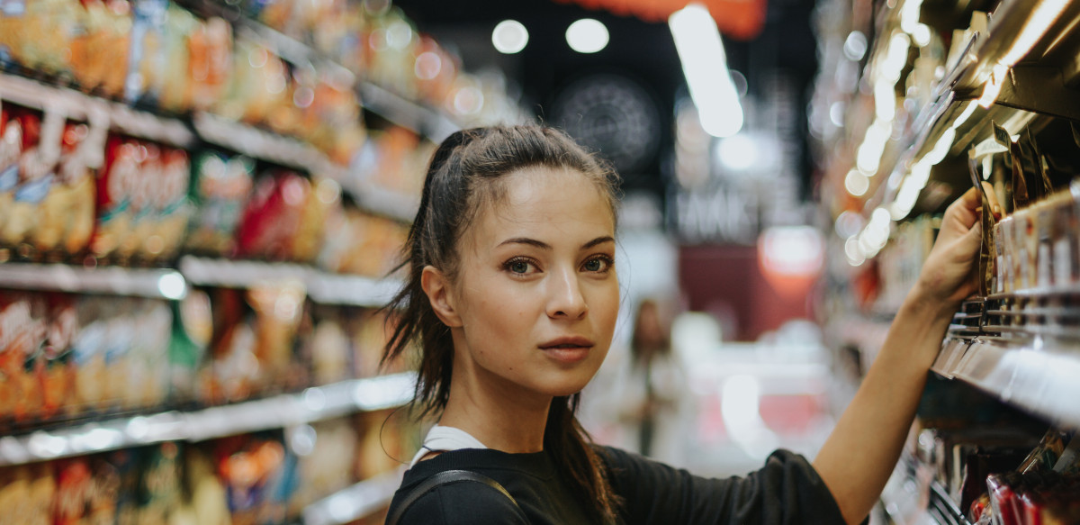 Woman Shopping for Plant-Based Foods